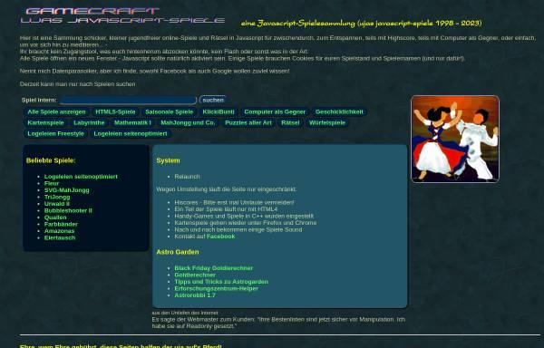 Vorschau von www.gamecraft.de, Gamecraft.de