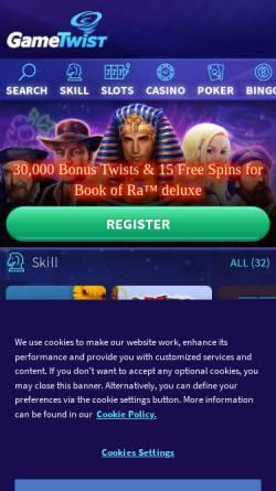 Vorschau der mobilen Webseite www.gametwist.com, Gametwist