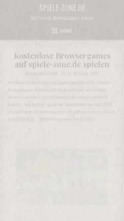 Vorschau der mobilen Webseite www.spiele-zone.de, Spiele-Zone.de