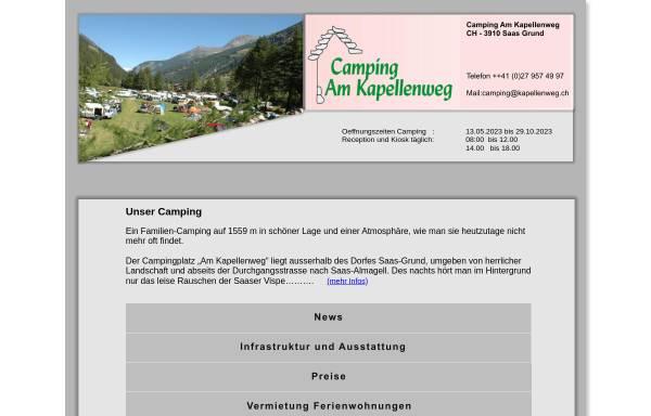 Vorschau von www.kapellenweg.ch, Camping am Kapellenweg