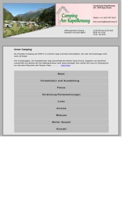 Vorschau der mobilen Webseite www.kapellenweg.ch, Camping am Kapellenweg