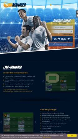 Vorschau der mobilen Webseite www.liga-manager.de, Liga Manager
