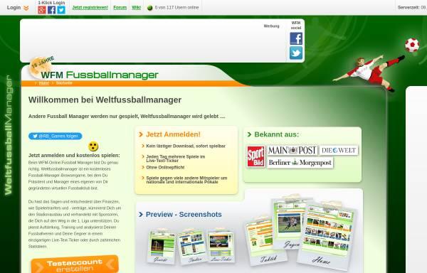 Vorschau von weltfussballmanager.de, Weltfussballmanager