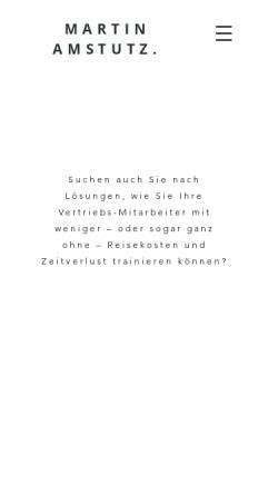 Vorschau der mobilen Webseite www.amstutz-trainings.ch, Amstutz Führung und Marketing - Martin Amstutz