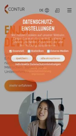 Vorschau der mobilen Webseite www.contur-online.de, CONTUR GmbH Consulting I Training