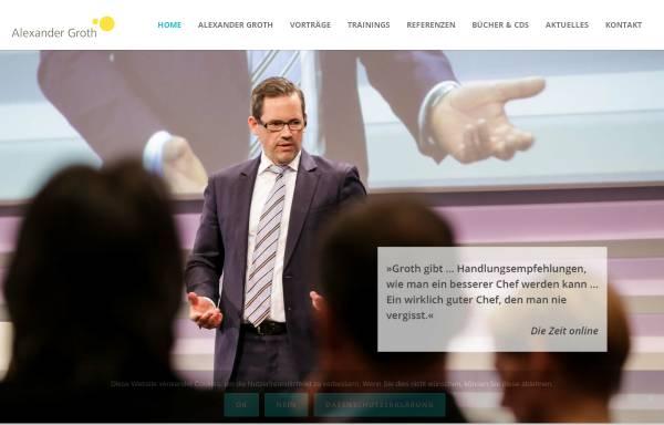 Vorschau von www.alexander-groth.de, Alexander Groth Leadership