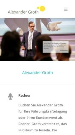 Vorschau der mobilen Webseite www.alexander-groth.de, Alexander Groth Leadership