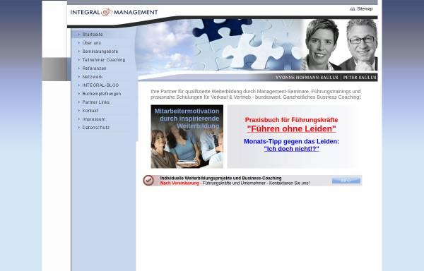 Vorschau von www.integral-training.de, Integral-Management-Training Peter Saulus