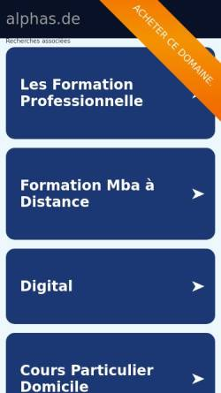 Vorschau der mobilen Webseite www.alphas.de, Organisationsentwicklung und Führungstraining - Klaus Krämer und Christopher Lesko