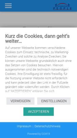 Vorschau der mobilen Webseite resource-people.de, Resource People e.K.
