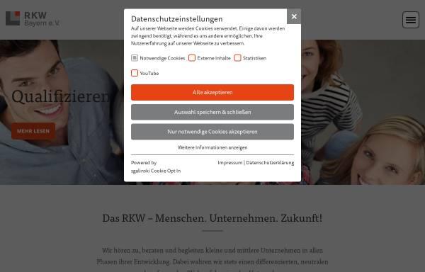 Vorschau von www.rkwbayern.de, RKW Bayern Rationalisierungs- und Innovationszentrum der Bayerischen Wirtschaft e.V. - Kompetenzzentrum und Beraterhaus