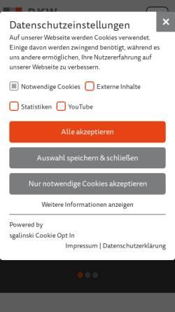 Vorschau der mobilen Webseite www.rkwbayern.de, RKW Bayern Rationalisierungs- und Innovationszentrum der Bayerischen Wirtschaft e.V. - Kompetenzzentrum und Beraterhaus
