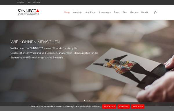 Vorschau von synnecta.de, SYNNECTA GmbH - Organisationsentwicklung und Managementberatung