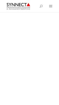 Vorschau der mobilen Webseite synnecta.de, SYNNECTA GmbH - Organisationsentwicklung und Managementberatung