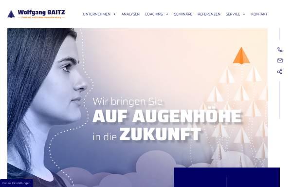 Vorschau von www.baitz.de, Wolfgang Baitz - Personal- und Unternehmensberatung