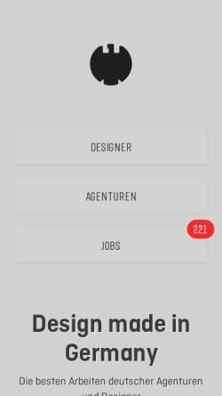 Vorschau der mobilen Webseite www.designmadeingermany.de, Design made in Germany