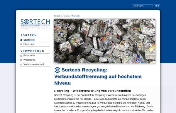 Vorschau von www.sortech-recycling.de, Sortech Recycling GmbH