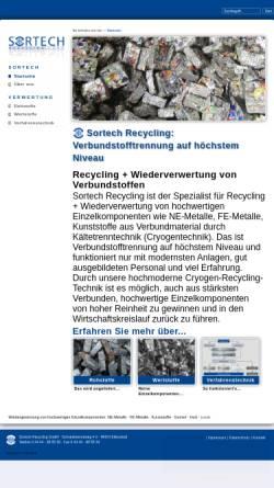 Vorschau der mobilen Webseite www.sortech-recycling.de, Sortech Recycling GmbH