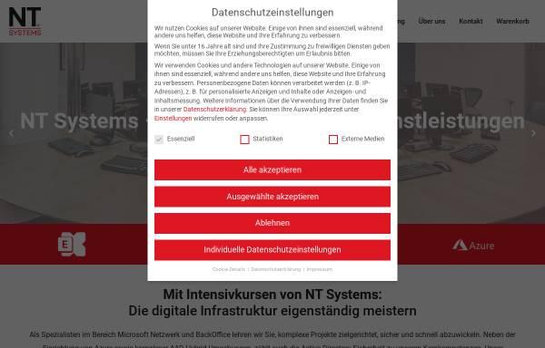Vorschau von www.ntsystems.de, NT SYSTEMS - Schulungen
