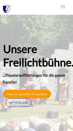 Vorschau der mobilen Webseite www.burgspielschar.de, Burgspielschar Burgholzhausen