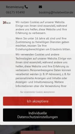Vorschau der mobilen Webseite www.niebuhrs-hotel.de, Hotel Niebuhr