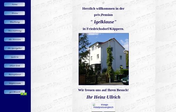 Vorschau von www.igelklause.de, Pension Igelklause