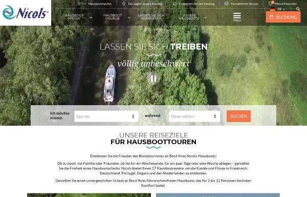 Vorschau von www.hausboot-nicols.de, Nicols