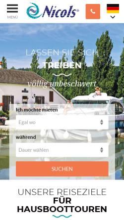 Vorschau der mobilen Webseite www.hausboot-nicols.de, Nicols