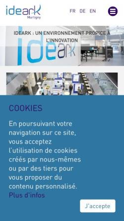 Vorschau der mobilen Webseite www.ideark.ch, IdeArk SA