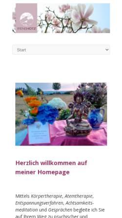Vorschau der mobilen Webseite www.stressbewaeltigung-taunus.de, Stressbewältigung Irene Hotz