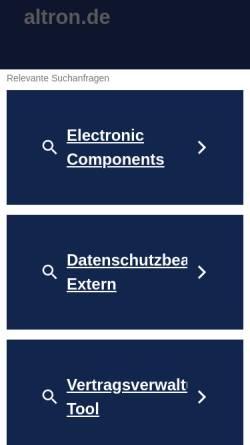 Vorschau der mobilen Webseite www.altron.de, Altron GmbH & Co. KG