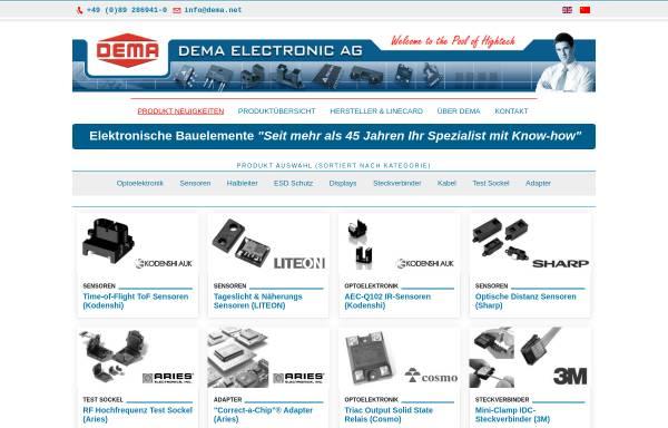 Vorschau von www.dema.net, DEMA Electronic AG