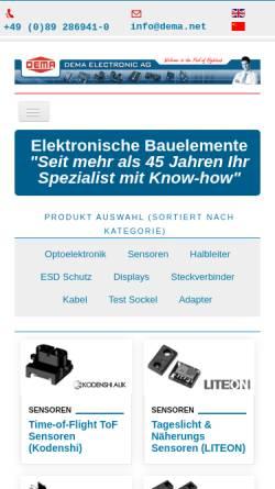 Vorschau der mobilen Webseite www.dema.net, DEMA Electronic AG