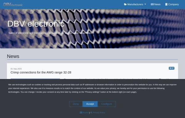 Vorschau von www.dbv-electronic.de, Duft/Baumann GbR
