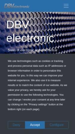 Vorschau der mobilen Webseite www.dbv-electronic.de, Duft/Baumann GbR