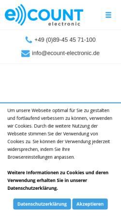 Vorschau der mobilen Webseite www.ecount-electronic.de, ECount GmbH