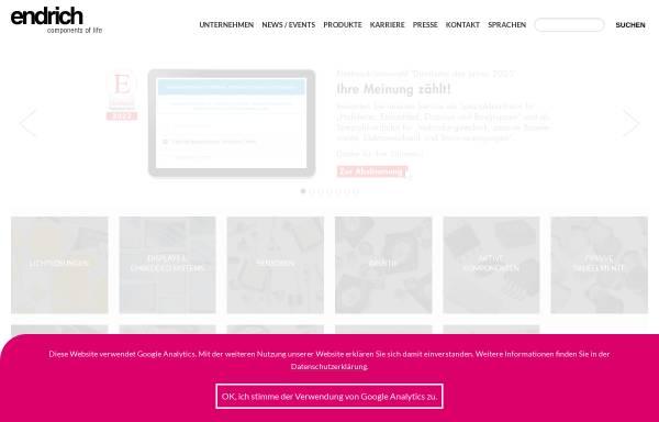 Vorschau von www.endrich.com, Endrich Bauelemente Vertriebs GmbH