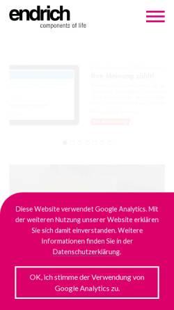 Vorschau der mobilen Webseite www.endrich.com, Endrich Bauelemente Vertriebs GmbH