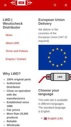 Vorschau der mobilen Webseite weutscheck.com, Lieselotte Weutscheck Distributor