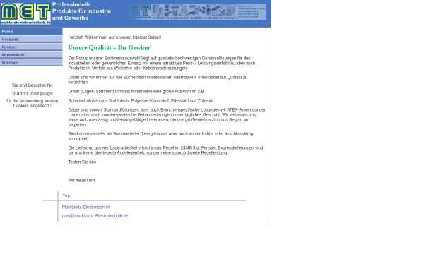 Vorschau von www.marktplatz-elektrotechnik.de, Marktplatz Elektrotechnik, Eva Hannappel
