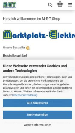 Vorschau der mobilen Webseite www.marktplatz-elektrotechnik.de, Marktplatz Elektrotechnik, Eva Hannappel