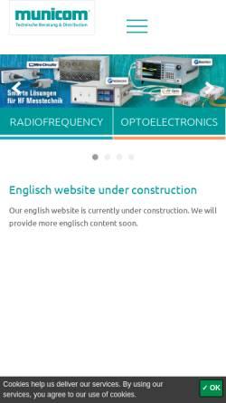 Vorschau der mobilen Webseite www.municom.de, Municom GmbH