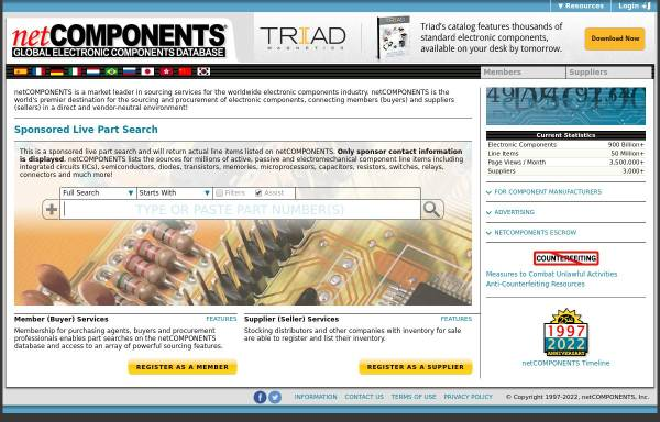 Vorschau von www.netcomponents.com, NetCOMPONENTS, Inc.