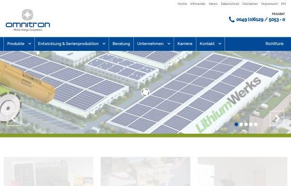 Vorschau von www.omnitron.de, Omnitron Griese GmbH