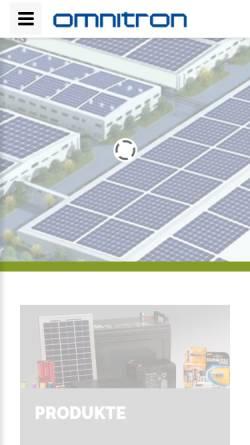 Vorschau der mobilen Webseite www.omnitron.de, Omnitron Griese GmbH