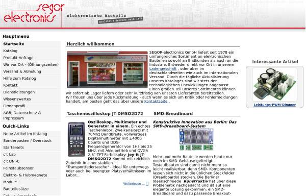 Vorschau von www.segor.de, SEGOR-electronics GmbH