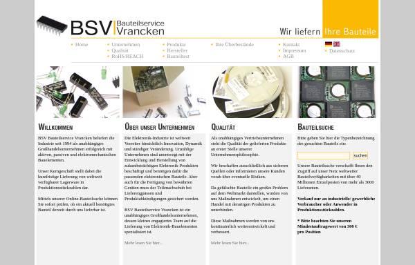 Vorschau von www.bsvgermany.de, BSV Bauteilservice Vrancken, Inh. Margaret Vrancken