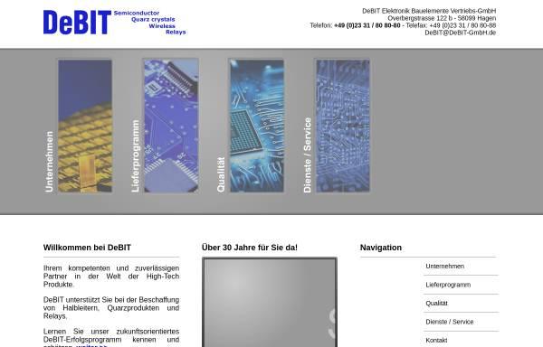 Vorschau von www.debit-gmbh.de, Debit GmbH