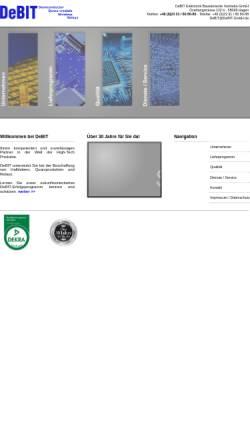 Vorschau der mobilen Webseite www.debit-gmbh.de, Debit GmbH
