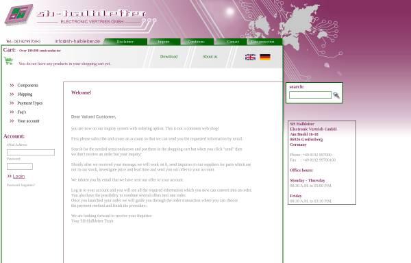 Vorschau von www.sh-halbleiter.de, Strixner+Holzinger Electronic Halbleiter Vertrieb GmbH